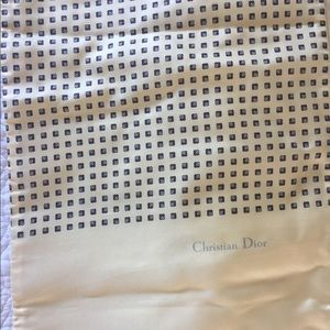Scarf Christian Dior silk one side wool